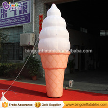 Giant outdoor advertising inflatable ice cream cone 3m 10ft tall inflatables ice cream ballloon for sale advertise toys