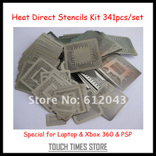 Freeshipping 341pcs/set Stencils Kit Laptop Xbox 360 PSP BGA Reballing Stencils Kit(China)