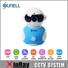 SUNELL Q3T0 720P IR Wi-Fi  Mini SoHo Camera Cute Toy IP Wireless PIR Camera with Built in Micro Suit for Baby Watching