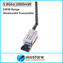 Boscam 5.8Ghz 2000mW 2W 8 Channel Wireless Audio Video FPV Transmitter AV Sender for FPV system 10KM Range
