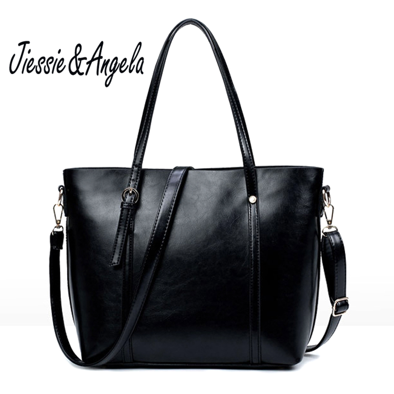 Jiessie &amp; Angela Casual Large Capacity Tote Bags Fashion Woman Handbag Black Crocodile Pattern Shoulder Bag Large Capacity<br>