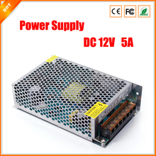 High Performance 12V 5A 60W Switch Switching Power Supply for LED Light Strip for CCTV camera for Security System 110-240V