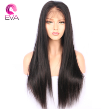 Full Lace Human Hair Wigs For Black Women Pre Plucked Natural Hairline With Baby Hair 10''-26'' Brazilian Remy Hair Wig Eva Hair(China)