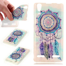 Large Stock Bug Discount Dreamcatcher Flower Painting Case for Lenovo A6000 Phone Cases capa for Lenovo A6000 Soft Back Cover