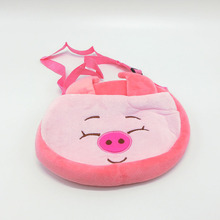 lovely kid plush toy bag animal doll bag pig bear girl plush stuffed soft toys little bag