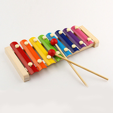 Kids Baby Toys 8 Notes Musical  Piano Multicolor Wooden Instrument Toy Store 34