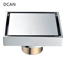 DCAN Brass Drains Drain Strainers Floor Linear Shower Floor Drains Bathroom Shower Drain Cover Kitchen Filter Strainer Drainer(China)