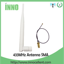 433Mhz GSM Antenna SMA Male Connector Rubber Aerial Wireless Repeater+ IPX to RP-SMA Jack Male Pin Extension Cord Pigtail Cable