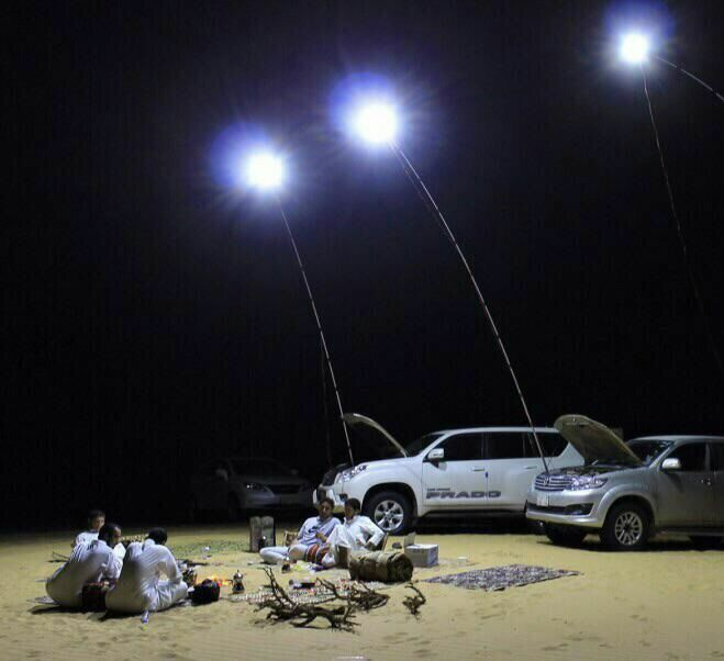 12V Telescopic LED Fishing Rod Outdoor Lantern Camping Lamp Lights White with Remote<br><br>Aliexpress