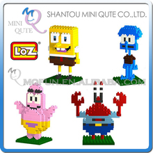 Mini Qute kawaii 4 styles cartoon kids loz diamond block plastic building blocks brick action figures educational toy - WTOYW METAL PUZZLE & PLASTIC BLOCKS WORLD store