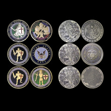 10pcs/lot Fashion antique coins and gold coins collectible souvenir United States Put on the Whole armor of god challenge coins