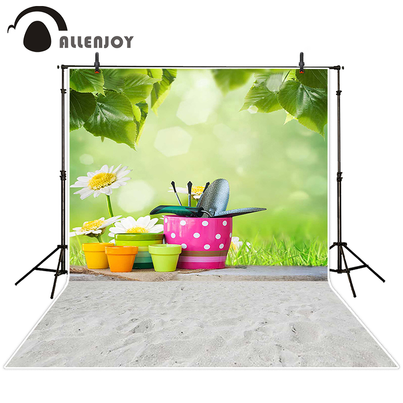 Allenjoy photographic background Grass sand flower leaves backdrops baby christmas fabric photocall 10ft*20ft<br><br>Aliexpress