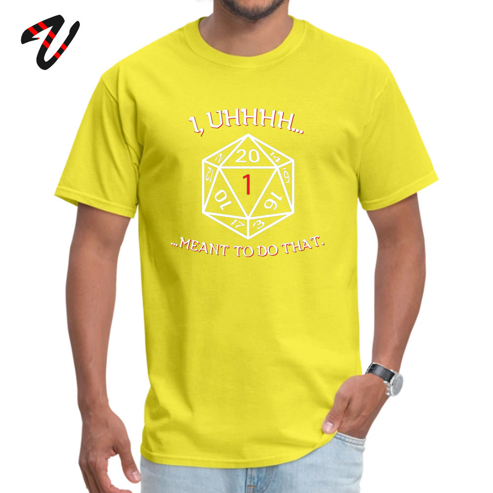 Family 100% Cotton Top T-shirts for Adult Short Sleeve Casual Tops Tees Hip Hop Summer/Autumn Crewneck _black Tops Shirts Casual I meant to do that 6196 yellow