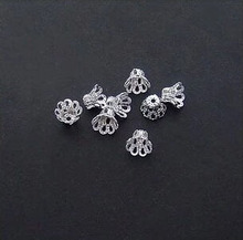 500pcs/lot Silver Plated Flower Bead Caps 6x5mm Findings DIY Jewelry Accessories