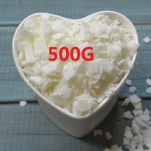 Candle Raw Materials 500g/bag High Quality 100% Pure Soy Wax Flakes Holiday Birthdays Parties Votive Bars Candle Making Supplies(China)
