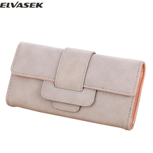 Elvasek new comes 2017 women wallets female leather purse high quality women clutches card holders coin keeper bolsas DH0249(China)