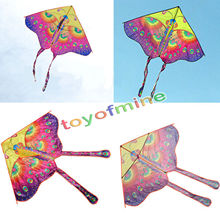 90cm Beautiful Colorful Traditional Chinese Butterfly Kite Without String Outdoor Toy Sport Fun Flying Activity