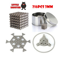 216PCS 3mm neodymium Magnetic Balls Neo nickel Magic Cube Spheres beads magnets Puzzle Neo Cube magic DIY Kids educational toys