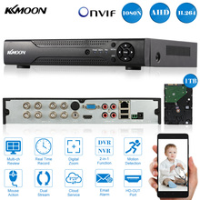 KKmoon 8CH CCTV AHD DVR Recorder Full 1080N/720P Security DVR + 1TB Seagate Hard Disk support Plug and Play Phone APP Control(China)