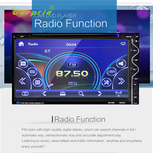 2017 new fashion7 Double 2DIN Touch Car Stereo CD DVD Player Bluetooth USB SD AM FM TV Radio+Camera  ses quality hot 17june2