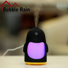 A6 150ML Penguin Ultrasonic USB Aroma Humidifier Essential Oil Diffuser Home Office Mini Aromatherapy Colorful LED Night Light
