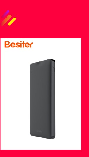 Besiter Power Bank 000 mAh For Xiaomi Mi 2 Quick Charge 3.0 PowerBank Portable Charger External Battery For iPhone Pover Bank 4