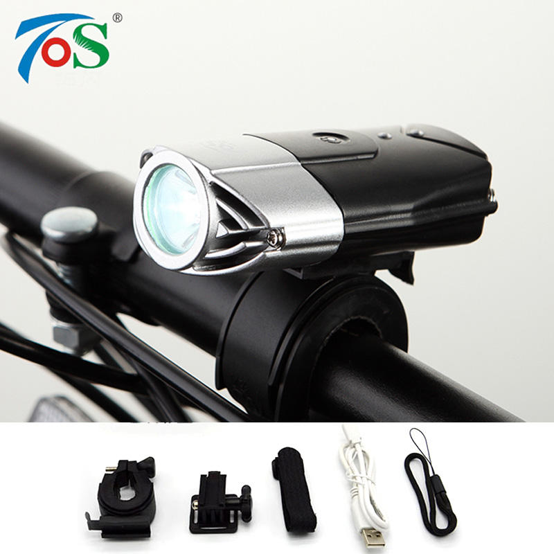 USB Rechargeable Bike Front Light Bicycle Accessories Flashlight Lithium Battery High Power Cycling LED Head Light Waterproof<br><br>Aliexpress