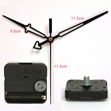 Shinfuku 11.5mm Screw Axis G631 clock mechanism with 10# hands Silent Sweep Quartz Movement Plastic DIY Clock Accessory kits