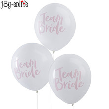 10pcs cheap balloons team bride print ballons wedding Decoration bridal shower party decoration hen night Ballon decor