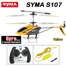 Hot sale!!!Free shipping Promotion RTF Syma S107G Metal 3.5CH RC Helicopter Toys +1 Set Free Main blade(China)