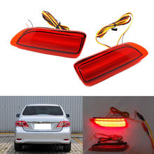2PCS LED light Rear Bumper lights Fog lamp lights For Toyota Corolla 2011 2012 2013(China)