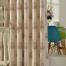 Curtain cloth new light shading linen jacquard double jacquard wedding room living room bedroom curtain cloth 30