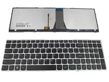 Laptop keyboard For LENOVO IDEAPAD 500-15ACZ 500-15ISK Silver With backlight US united states edition(China)