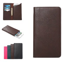 5.3-5.7 inch Universal Cell Phone Pouch Leather Wallet Case For iphone 6plus  Note 5 Note4 Card Holder Fashion Bag