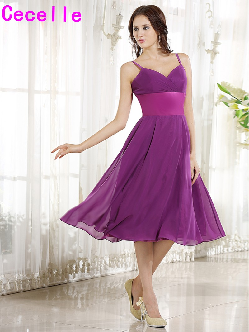 Buy short bridesmaid dresses purple and get free shipping on ...