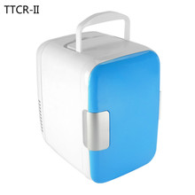 TTCR-II 4L 12V 220V Mini Car Fridge Cooler Warmer Multi-function Travel Refrigerator Portable Electric Icebox Cooler Box Freezer