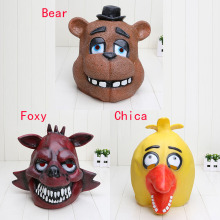 3pcs/lot FNAF Five Nights At Freddy's Freddy Fazbear foxy Chica Full Latex Mask figure toy kids toys