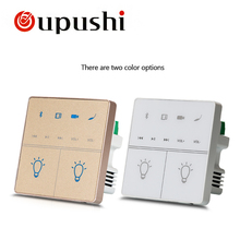 Oupushi A1 Smart Home Sistema de Música Pad Parede light control Buletooth MIni Amplificador USB Com TF Crd, controle remoto, Teto(China)