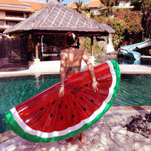Giant Watermelon Inflatable Mattress Pool Float Toy Sunbathe Beach Mat Air Pad Buoy Swimming Ring Circle Party Toys