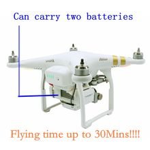 Modification Parts For Extending Flying Time Up to 30Mins ,Can Carry Two Batteries for Phantom 3(China)