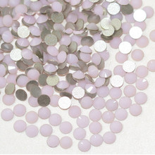 Flat Back Best Crystal Pink Opal 1440pcs/pack ss6-ss12 ( Nail Art decorations ) Non Hot Fix Glue on rhinestones for nails diy