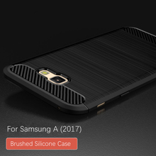 Brushed TPU Case For Samsung A3 A320 A320F A5 A520 A7 A720 2017 Model Soft Silicone TPU Back Cover Silicone Mobile Phone Cases(China)
