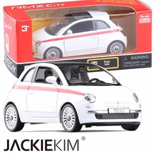Brand New RMZ city 1:28 FIAT 500 Alloy Diecast Model Car toys For Children Gifts Toys Free Shipping(China)