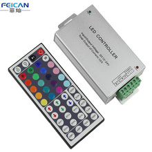 IR 44 keys Remote Control DC12-24V 4A*3Channel RGB LED Controller Aluminum shell LED Controller For SMD 5050 3528 RGB LED Strip