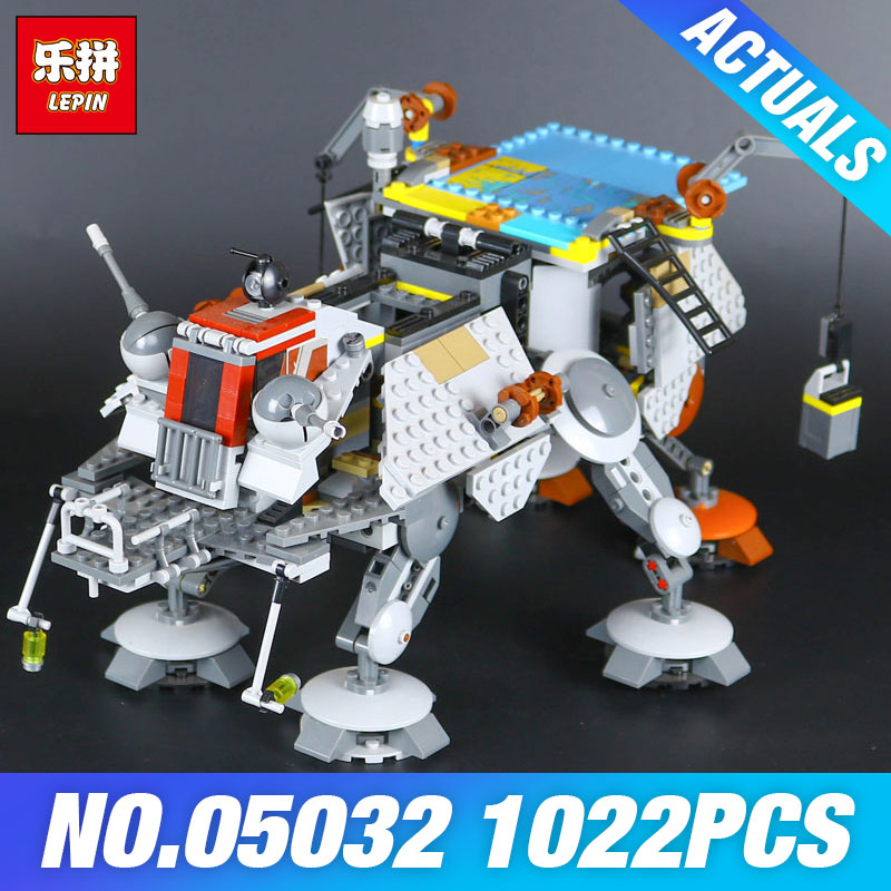 2018 LEPIN 05032 1022pcs Star-Wars Rexs AT Captain TE Building Blocks Brick Toy with 75157 Self-Locking Children days DIY Gift<br>