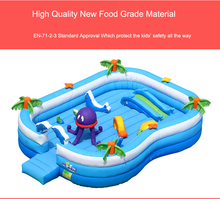 Business bounce house Large size Inflatable trampoline wih Slide ocean Park Swimming Pool Bounce House for Kids 760*520*190cm(China)