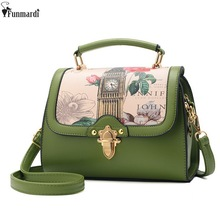 FUNMARDI Lovely Sweet Ladies Bags Fashion Cartoon Printing Shoulder Bags Luxury Trendy Cross Body Bag Famous Brand Bags WLAM0097(China)