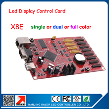 LED display controller card strip screen control card serial ethernet usb port X8E 128*9999 pixel easy operate led display card(China)