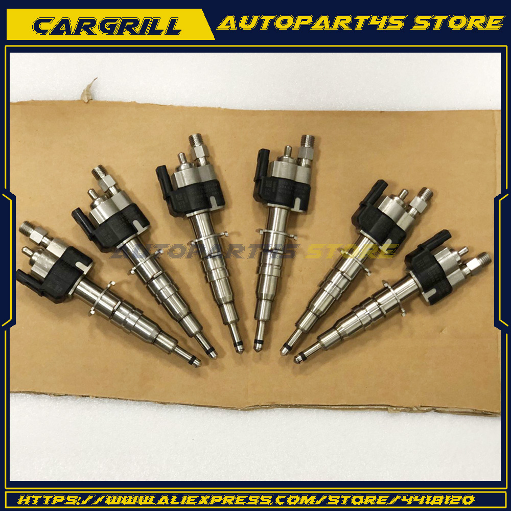 6X Fuel Injector For BMW N54 135 335 535 550 750 650i 740i X6 13537585261-09 Set