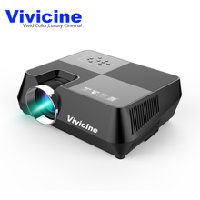 Vivicine V8 Portable LED Mini Projector Wired Sync Display More Stable Than WIFI Beamer For Home Theatre Movie AC3 HDMI VGA USB(China)